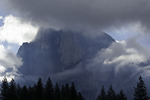 Half Dome on a stormy morning, Yosemite National Park, California