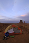 Tent camping at Monument Valley, Arizona