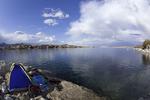 Camping by the Colorado River at Arizona Bay, Lake Mohave NRA, Arizona