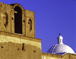 The whitewashed dome of the Spanish mission church at Tumacacori National Historic Park, Arizona