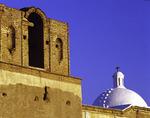 The whitewashed dome of the Spanish mission church at Tumacacori National Historic Park, Arizona