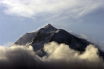 Mt. McKinley rises more than 15,000' above the Ruth Glacier in Denali National Park, Alaska