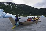 Exploring the Spencer Glacier forebay, south of Anchorage, Alaska