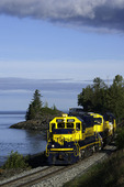The Alaska Railroad en route from Anchorage to Seward, Alaska