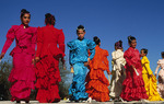 Mexican folkloric dancers at Tumacacori Mission National Historic Park, Arizona
