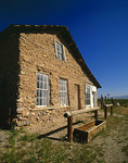 A historic building in the ghost town of Shakespeare, New Mexico