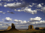 Monsoon clouds over the Mittens, Monument Valley, Arizona