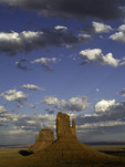 Moonrise over the Mittens, Monument Valley, Arizona