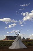 A teepee finds a home at Monument Valley, Arizona