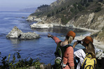 Friends explore Big Sur, Monterey County, California