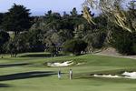 A couple golfs at Black Horse Golf Course, Seaside, Monterey County, California