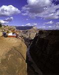 Risky camping by the edge at Toroweap, 3000' above the Colorado River in Grand Canyon National Park, Arizona