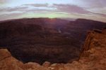 Sunset over the Colorado River from Guano Point, Grand Canyon West, Arizona