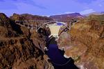 Hoover Dam and the Pat Tillman Memorial Bridge, Black Canyon, Nevada-Arizona