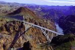 Pat Tillman Memorial Bridge, from above the Colorado River in Black Canyon, Nevada