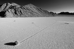 Sliding rocks and tracks in Racetrack Valley, Death Valley National Park, California