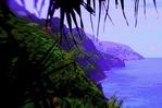 Na Pali coast from the Kalalau Trail, Kauai, Hawaii