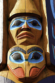 Posterized section of a totem pole in Ketchikan, Alaska