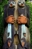 Posterized section of the Chief Johnson totem pole in Ketchikan, Alaska