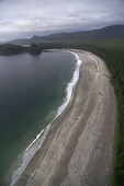 Wilderness beach at Peril Bay, northwest coast of Graham Island, Haida Gwaii, British Columbia, Canada