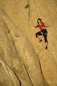 Climbing the granite walls of Watson Lake, Prescott, Arizona