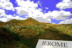 Summer afternoon view of Jerome, Arizona
