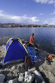 Camping by the Colorado River at Arizona Bay, Arizona