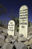 Famous victim's graves at Boot Hill, Tombstone, Arizona