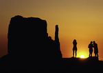 Watching the sunrise behind the Mittens at Monument Valley, Arizona