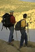 Hikers above Watson Lake, Prescott, Arizona
