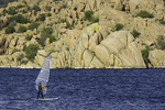 Windsurfing on Watson Lake, Prescott, Arizona