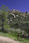 Hiking by Granite Basin Lake, Prescott, Arizona