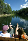 Fishing at Goldwater Lake, Prescott, Arizona