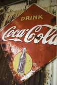 Vintage Coca-Cola sign at the General Store on old Route 66, Hackberry, Arizona
