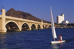 Sailing on Tempe Town Lake, Tempe, Arizona