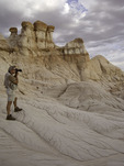 Kerrick James shoots the eroded features of Blue Canyon, Hopi Reservation, Arizona