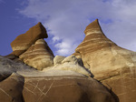 Eroded sandstones of Blue Canyon, Hopi Reservation, Arizona