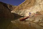 Camping and kayaking in Davis Gulch, Escalante Arm, Glen Canyon National Recreation Area, Utah