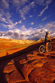 Riding the slickrock at Snow Canyon State Park, Utah
