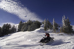 Snowmobiling on Gravel Mountain, Grand County, Colorado