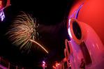Fireworks over the Disney Dream, returning from the Bahamas