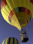 'Sunsational' ascends at the Havasu Balloon Fiesta, Lake Havasu City, Arizona