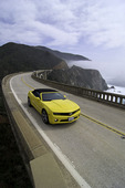 Driving north across the Bixby Creek Bridge, Big Sur Coast, Monterey County, California