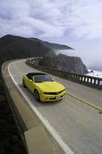 Driving north across the Bixby Creek Bridge, Big Sur Coast, Monterey County, California