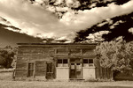 Weathered building on Main Street, Chloride, New Mexico