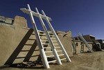 Roof ladders at Acoma, (Sky City), New Mexico