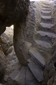 Stone steps lead to Sky City, Acoma, New Mexico