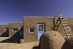 Hornos (bread ovens) made of adobe, Taos Pueblo, New Mexico