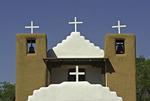 Whitewashed entrance to the Church of San Geronimo, Taos Pueblo, New Mexico