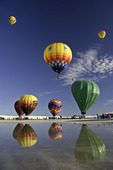Balloon event at White Sands National Monument, New Mexico